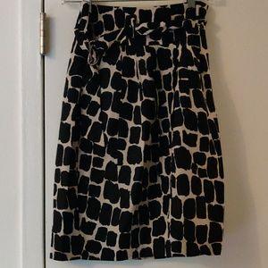 Giraffe print pencil skirt with belt